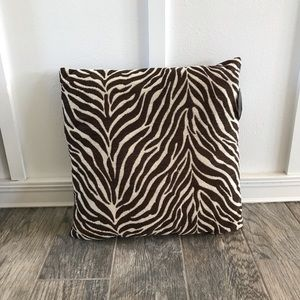 Brown Zebra Print Throw Pillows